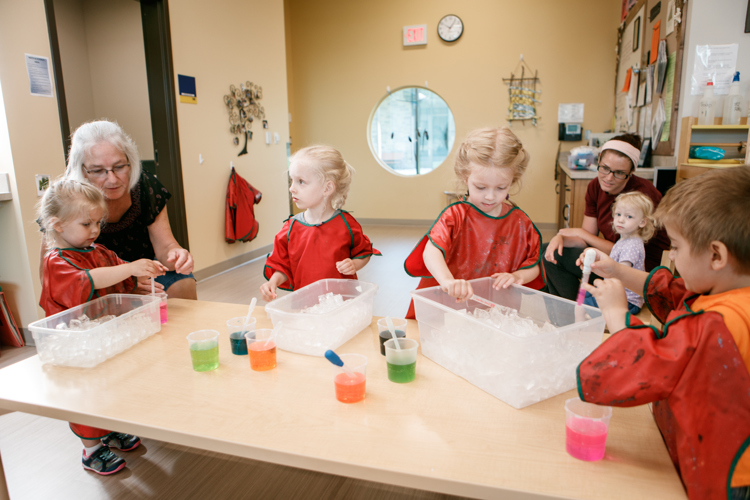 Children and providers at Grand Rapids' newest learning laboratory