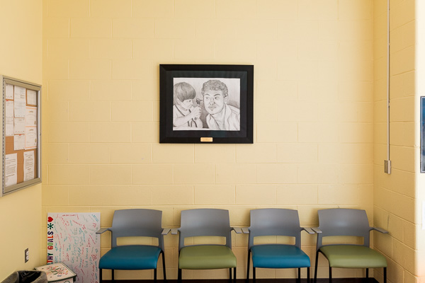 Waiting room at Beaumont Teen Health Center