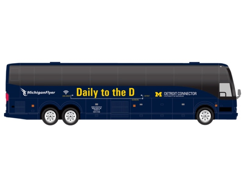 Rendering of The Detroit Connector bus