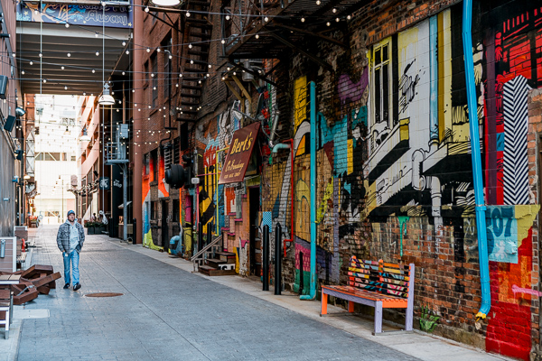The Belt, an activated alley in downtown Detroit