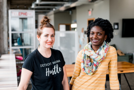 Alex Fluegel and Jalyn Spencer-Harris, founders of Mama Hub Hub