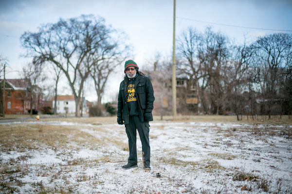 Malik Yakini at the site of the soon-to-be-constructed Detroit People's Food Co-op
