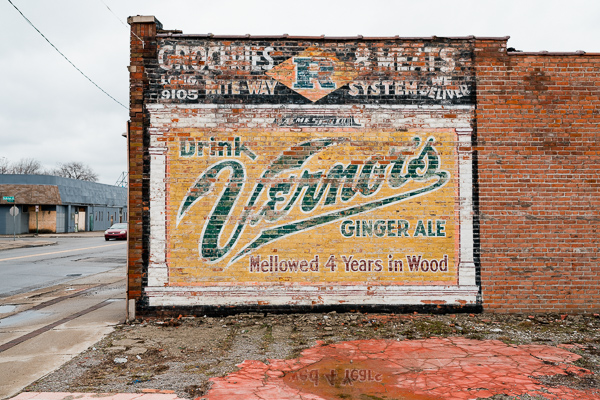 Vernor's mural on the side of a building on McNichols