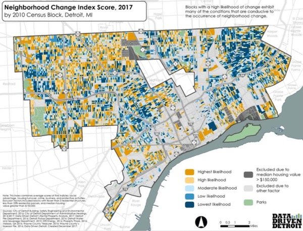 Which Detroit neighborhoods are most vulnerable to major change? New on