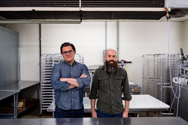 Will Branch and Zachary Klein in their new production facility in Eastern Market