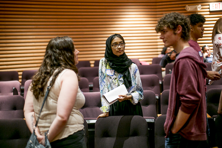 Mutahhara Jannat, 15, Hamtramck speaks to her fellow summit-goers