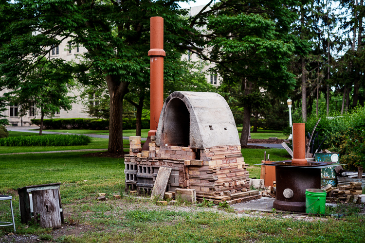 A kiln at a Ceramics studio near Marygrove College