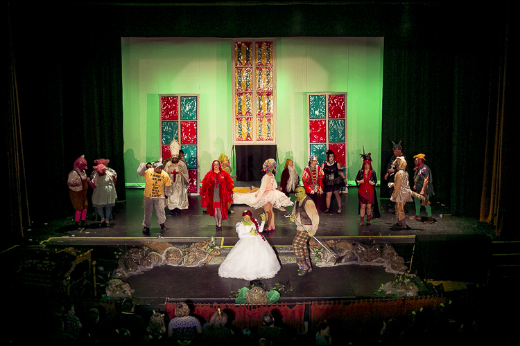 The Park Player cast of Shrek: The Musical performs at the Redford Theater