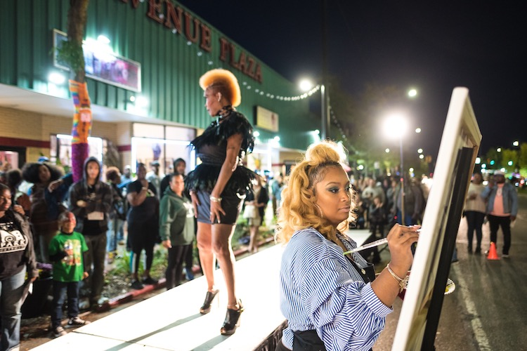 Fashion show at Light Up Livernois - photo by Desmond Love