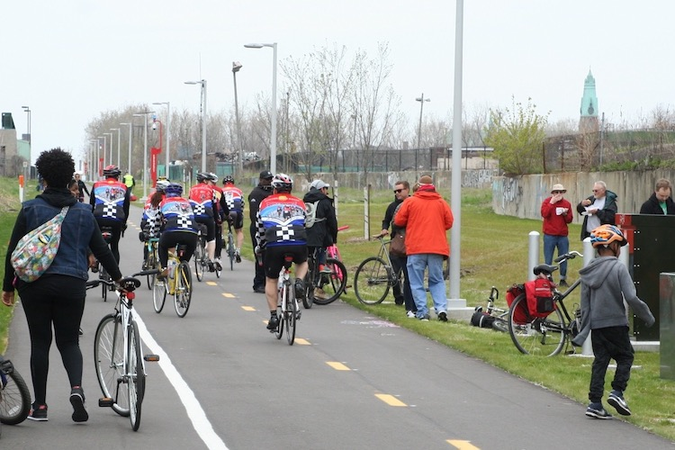 Riders on the Dequindre Cut