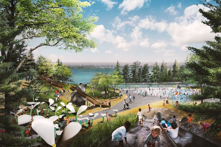 Rendering of West Riverfront Park