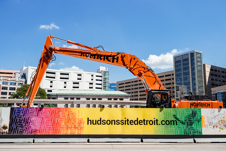The Hudson construction site on Woodward