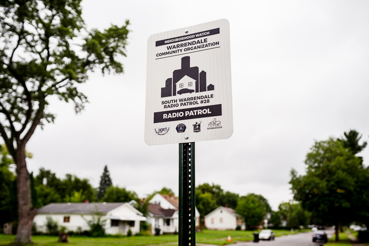 A neighborhood watch sign on Minock Street in South Warrendale.