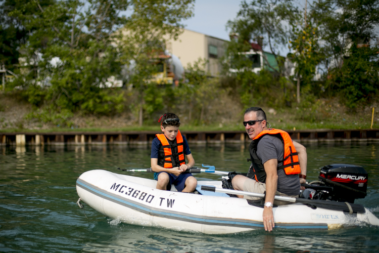 Tom and Mark Nardone travel around in their boat
