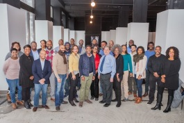 The first Capital Impact Partners cohort with trainer Corey Leon