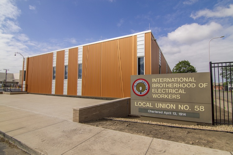 Exterior of the IBEW Local 58 hall