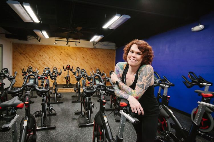 Amy Latawiec, owner of Rebel Cycle Studio