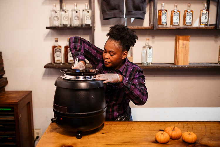 Kamesha McDaniel at a recent Detroit City Distillery popup