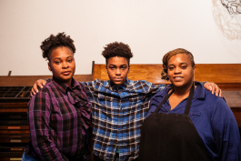 From left to right: Kamesha McDaniel, Barron McDaniel, and Dannesha Jackson