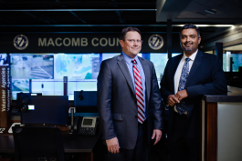Traffic engineer Adam Merchant and John Abraham, Macomb County Director of Traffic & Roads