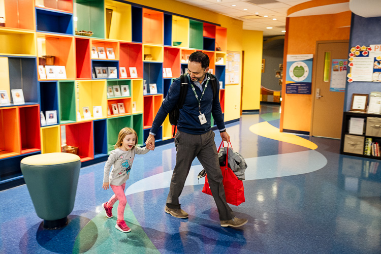 Joe Dudek picks up his daughter from Bright Horizons Early Education & Preschool