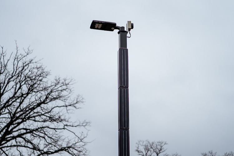 Solar street light at Parker Village