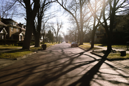 Residential street in Jefferson Chalmers