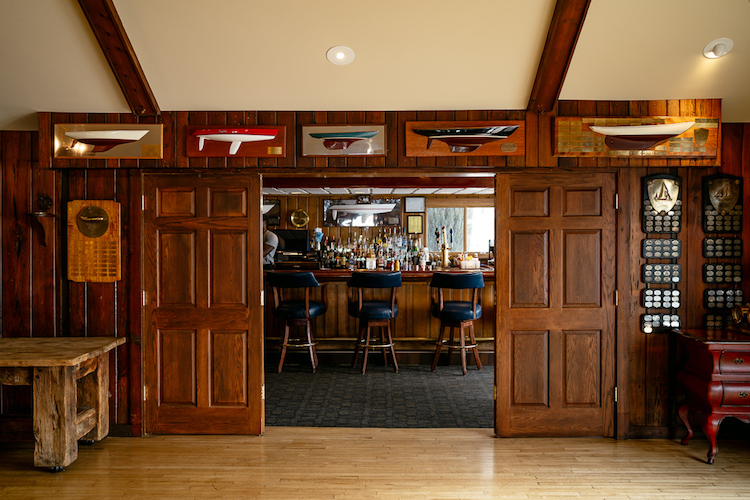 Inside the Bayview Yacht Club