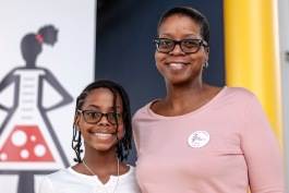 Journey and her mother Zelda at the three year celebration of The STEMinista Project