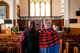 Senior Pastor Terrance J. Rollerson and Pamela Pangborn, executive Pastor at Hope Community Church