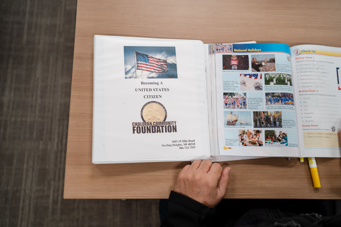 Chaldean Community Foundation workbook on citizenship