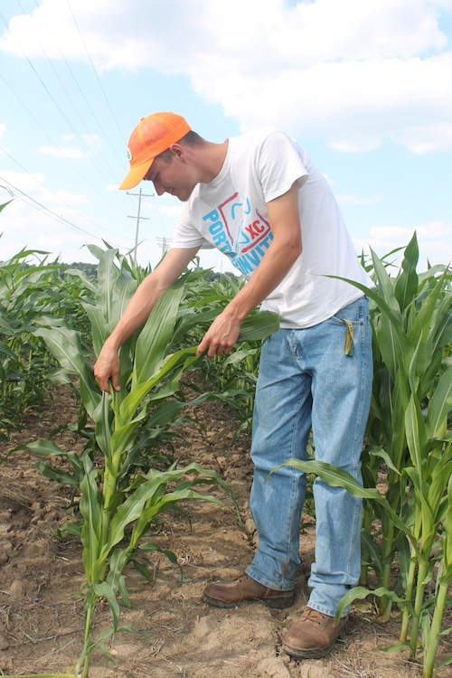 A student in the Associate of Applied Science in Business (Agricultural Operations) program at Glen Oaks Community College.