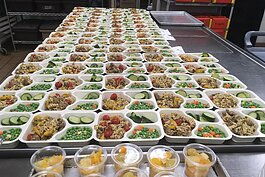 Healthy meals are prepared for the Northwest Michigan Community Action Agency's Meals on Wheels program.