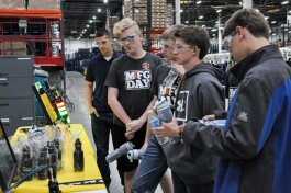 Students participate in Manufacturing Day 2018.