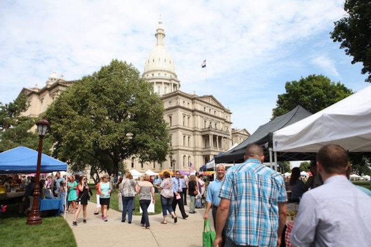 Michigan Farmers Market Association hosts Farmers Markets at the Capitol in downtown Lansing
