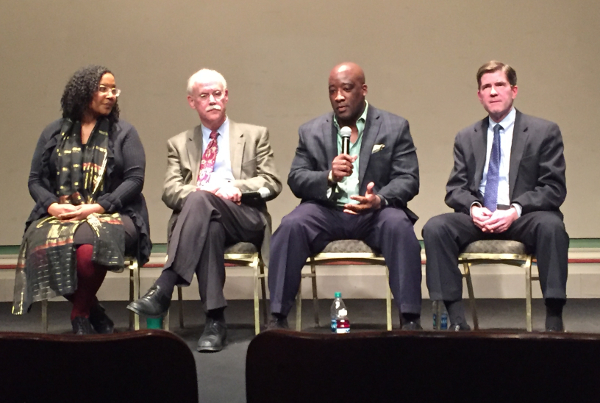 Ponsella Hardaway, Hunter Morrison, Michael Ford, and John Austin discuss regionalism at the DIA