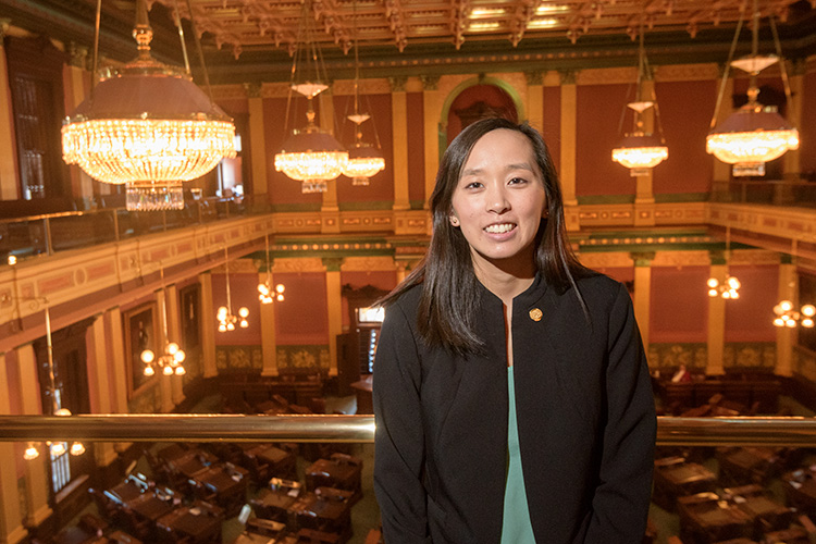 Stephanie Chang at the Michigan State Capitol