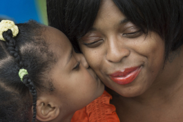 Shaunte Oliver received support services from Strong Beginnings while she was pregnant with her daughter Alona.