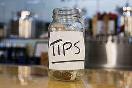 Tips, tip jar