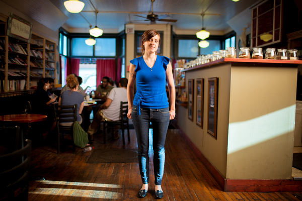 Owner Lori Slager at The Sparrows in Grand Rapids